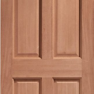 Carolina Single Glazed External Hardwood Door (Dowelled) Clear Glass