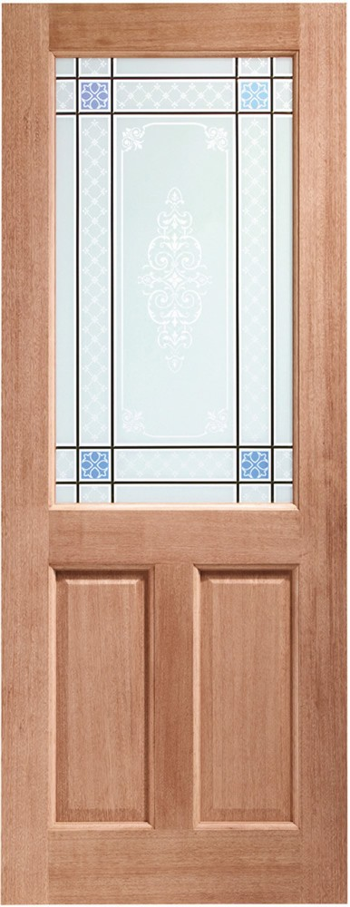2XG Single Glazed External Hardwood Door (Dowelled) with Carroll Glass