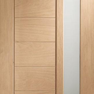 Modena Double Glazed External Oak Door (Dowelled) with Obscure Glass