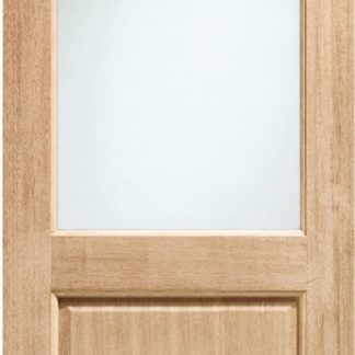 2XG Double Glazed External Oak Door (Dowelled) with Clear Glass