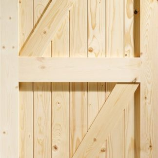 Framed Ledged & Braced External Pine Gate or Shed Door