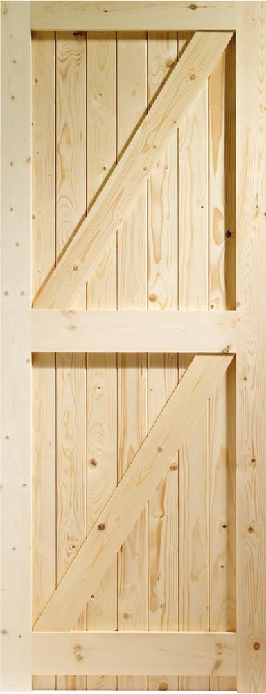 Framed Ledged & Braced External Pine Gate or Shed Door