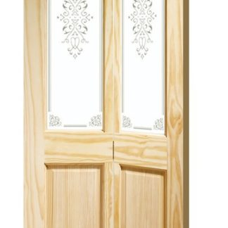 Victorian Bi-Fold Internal Clear Pine Door with Campion Glass