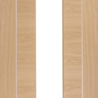 Forli Pre-Finished Internal Oak Door with Clear Glass