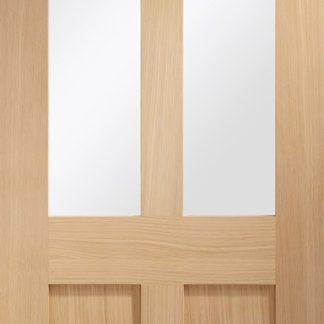 Malton Shaker Internal Oak Door with Clear Glass