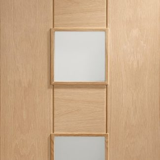 Messina Pre-Finished Internal Oak Door with Clear Glass
