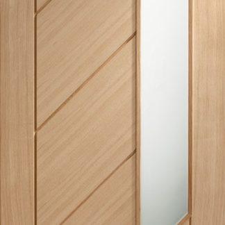 Monza Internal Oak Door with Obscure Glass