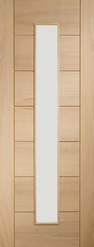 Palermo Original 1 Light Internal Oak Door with Clear Glass