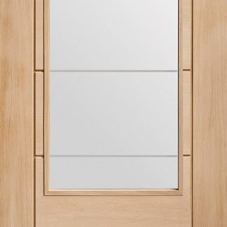 Palermo 2XG Internal Oak Door with Clear Etched Glass