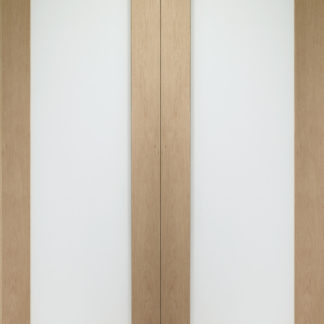 Pattern 10 Internal Oak Rebated Door Pair with Obscure Glass