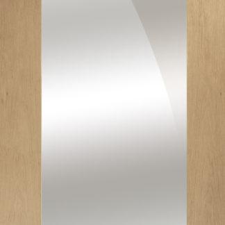 Pattern 10 Internal Oak Door with Mirror Panel