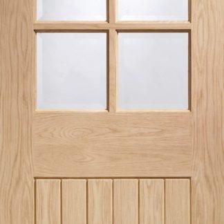 Suffolk Original 6 Light Internal Oak Door with Clear Bevelled Glass