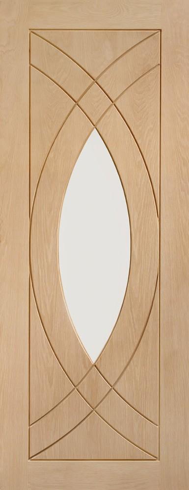 Treviso Internal Oak Door with Clear Glass