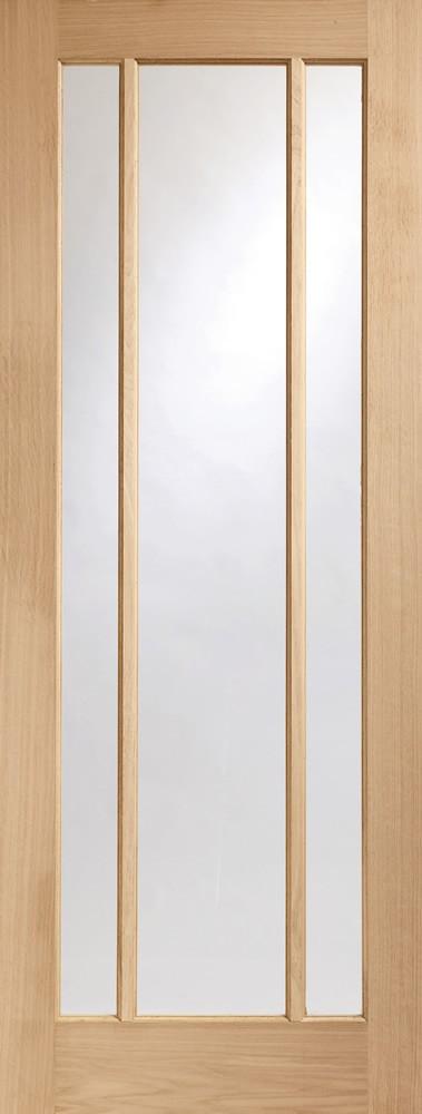 Worcester 3 Light Internal Oak Door with Clear Glass