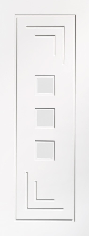 Altino Internal White Primed Door with Clear Glass