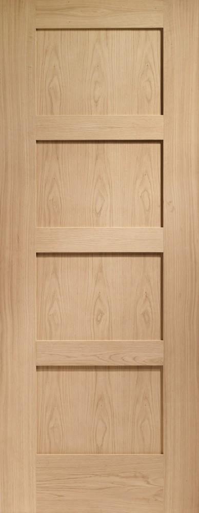 Shaker 4 Panel Internal Oak Door