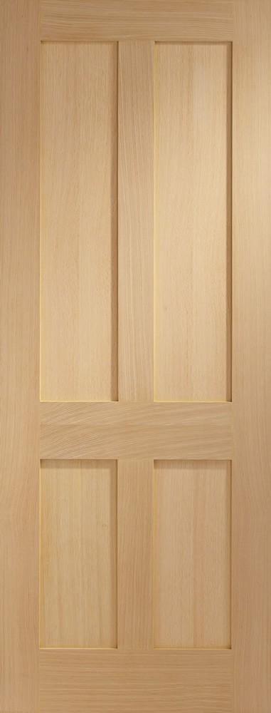 Victorian Shaker 4 Panel Internal Oak Door