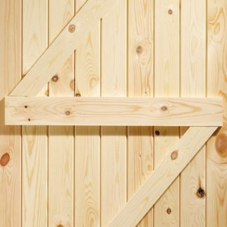 Ledged & Braced External Pine Gate or Shed Door