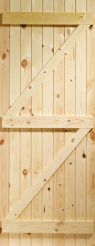 Ledged & Braced External Pine Gate or Shed Door