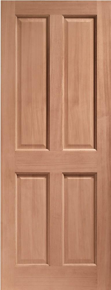 London 4 Panel External Hardwood Door (Dowelled)