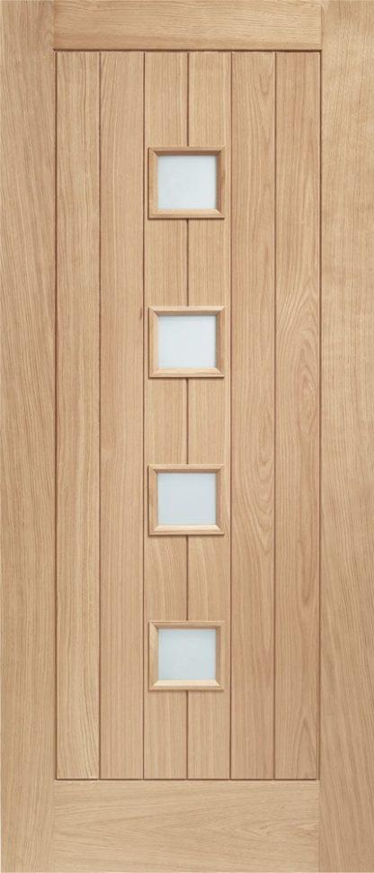 Siena Double Glazed External Oak Door (M&T) with Obscure Glass