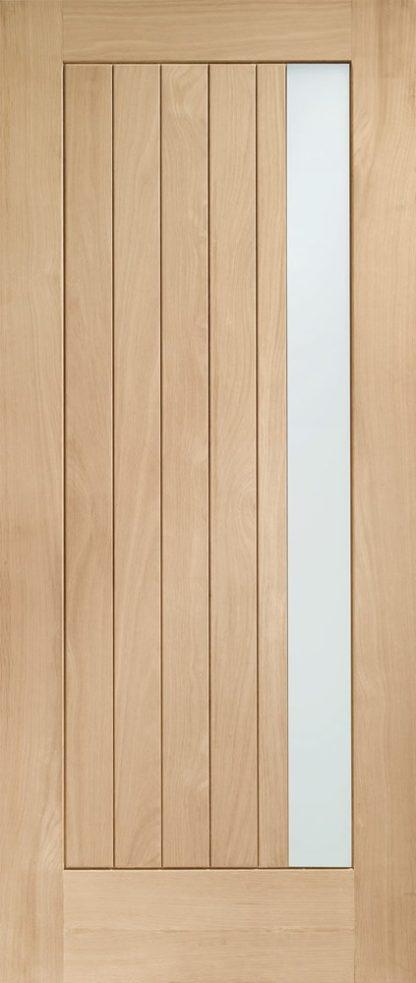 Trieste Double Glazed External Oak Door (M&T) with Obscure Glass