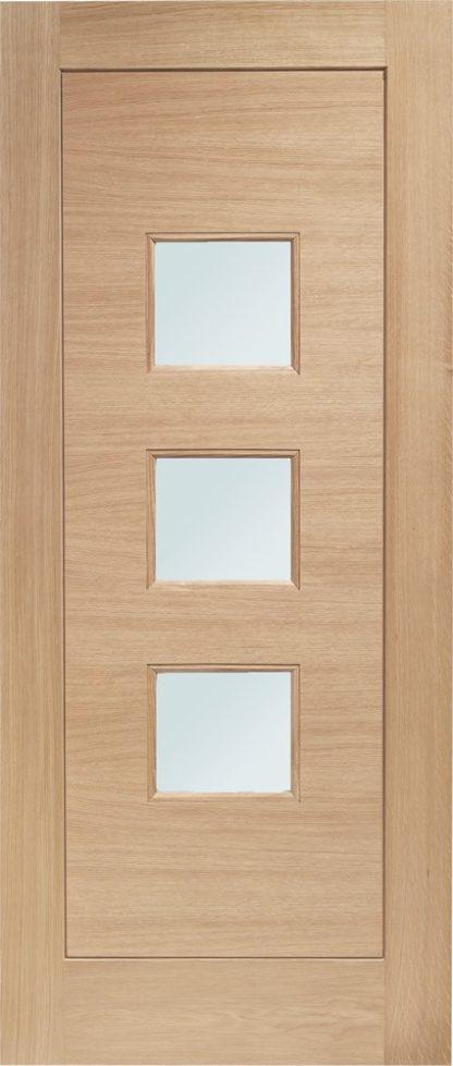 Turin Double Glazed External Oak Door (M&T) with Obscure Glass