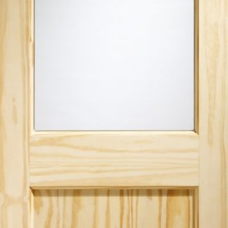 2XG External Clear Pine Door (Dowelled) with Clear Glass