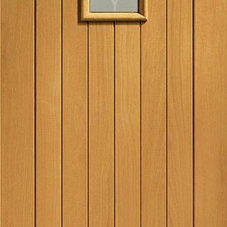 Chancery Double Glazed External Oak with Decorative Glass