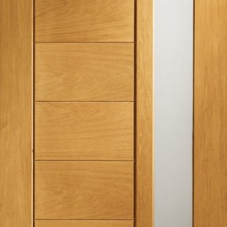 Modena Pre-Finished Double Glazed External Oak Door with Obscure Glass