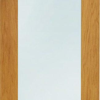 Pattern 10 Pre-Finished Double Glazed External Oak Door with Clear Glass