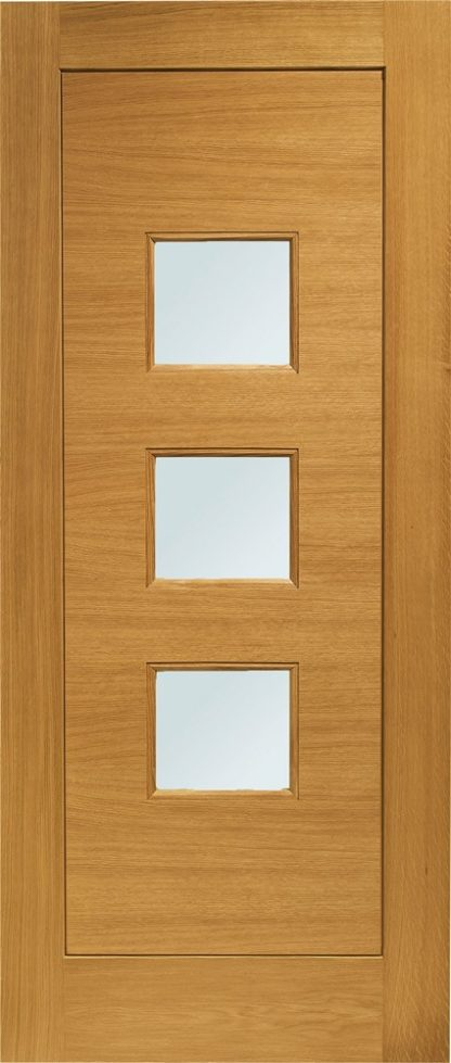 Turin Pre-Finished Double Glazed External Oak Door with Obscure Glass