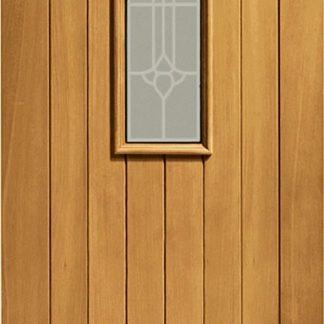 Westminster Double Glazed External Oak with Decorative Glass