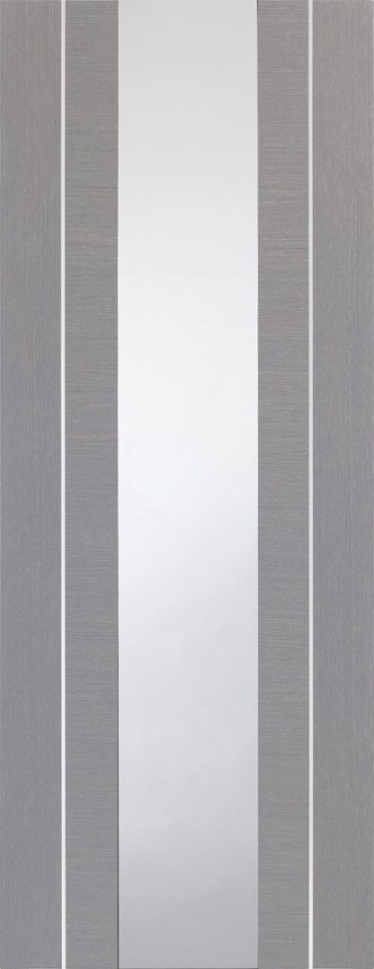 Forli Pre-Finished Light Grey Door with Clear Glass