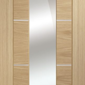 Portici Pre-Finished Oak Door with Mirror Panel