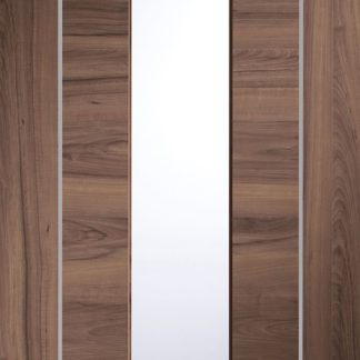 Forli Pre-Finished Internal Walnut Door with Clear Glass