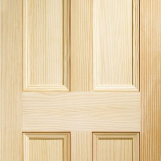 Edwardian 4 Panel Internal Vertical Grain Clear Pine Door