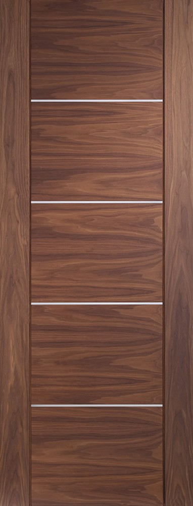 Portici Pre-Finished Internal Walnut Door