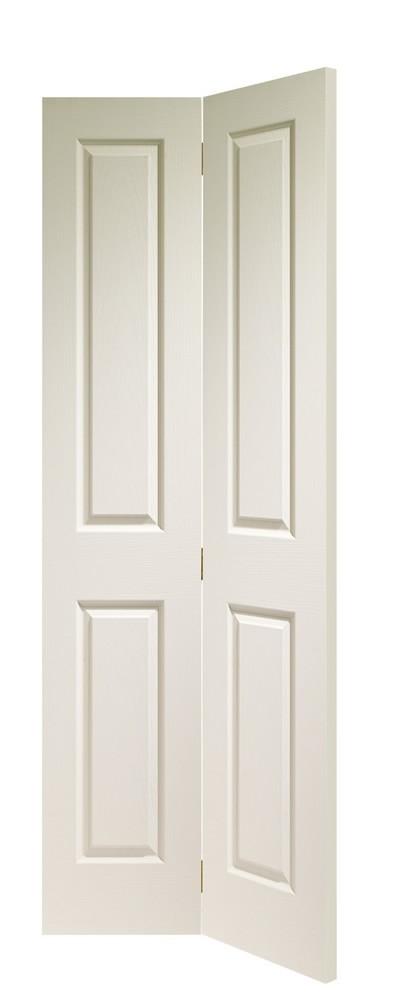 Victorian 4 Panel Bi-Fold Internal White Moulded Door