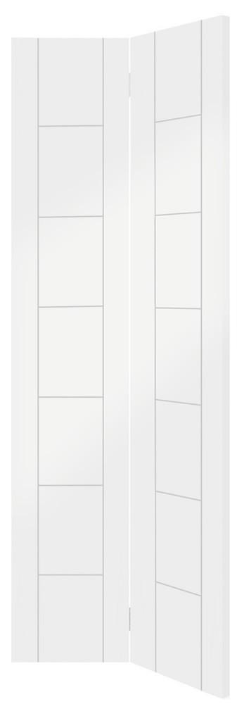 Palermo Internal White Primed Bi-Fold Door
