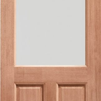 2XG Single Glazed External Hardwood Door (Dowelled) Clear Glass