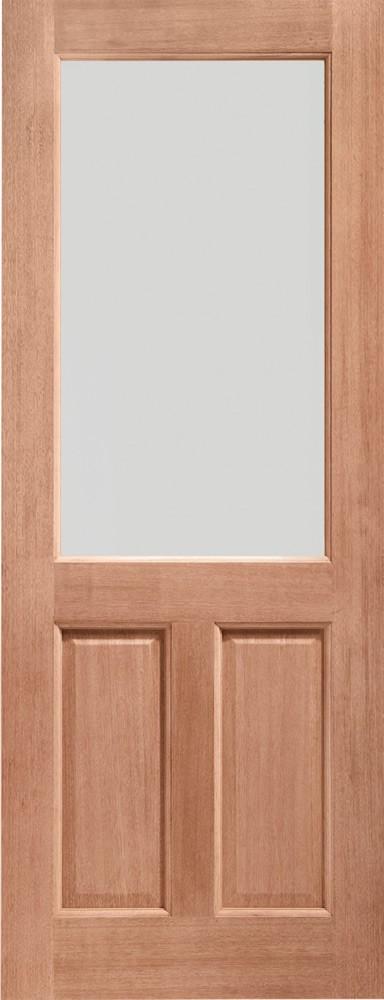 2XG Single Glazed External Hardwood Door (Dowelled) Clear Glass