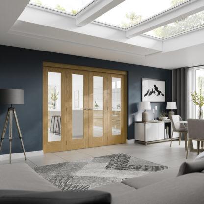 Freefold Room Divider Oak