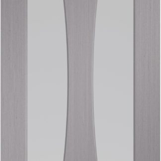 Verona Pre-Finished Light Grey Door with Clear Glass
